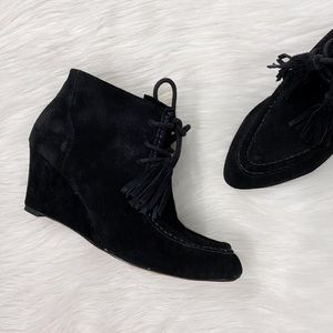 Rebecca Minkoff Black Suede Leather Ankle Booties